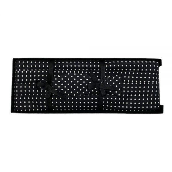 Cummerbund Set Black & White Windsor Dot