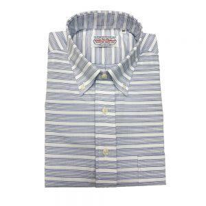 Gitman Popover Shirt White Horizontal stripe