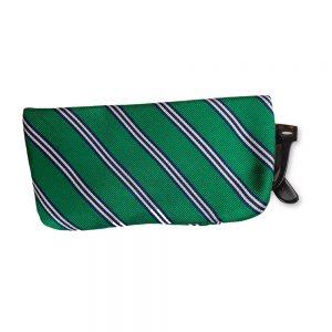 Liberty London Eyeglass Case Brooks Stripe Green