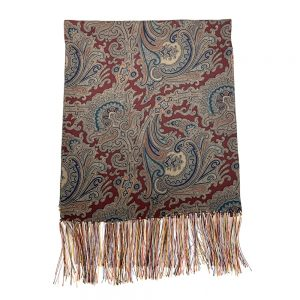 Silk Scarf Brown Paisley