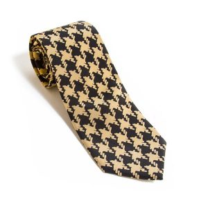 Neck Tie lg houndstooth black