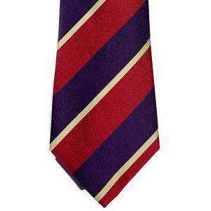 Neck Tie Woven Regimental #6 Purple