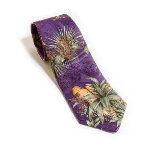 Neck Tie Tropics Purple