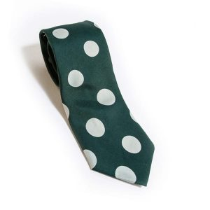 Neck Tie Cascading Polka Dot Green