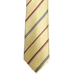 Neck Tie Wide Stripe Yellow