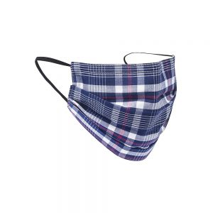 Safety Masks Navy_Red Plaid