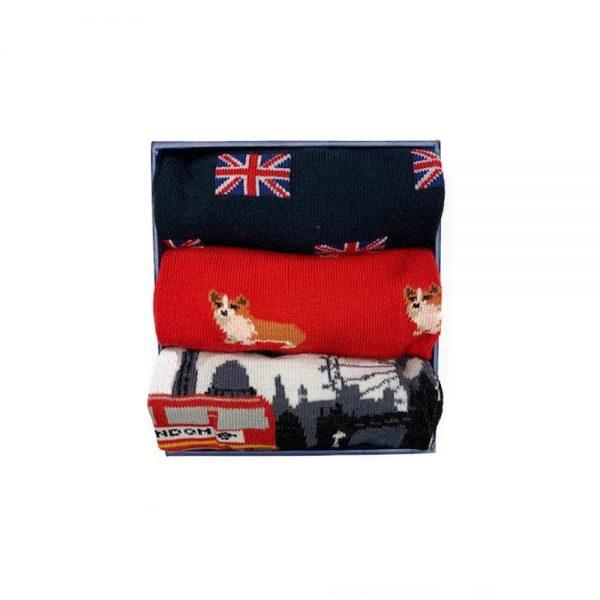 Corgi Socks London Holiday Gift Pack