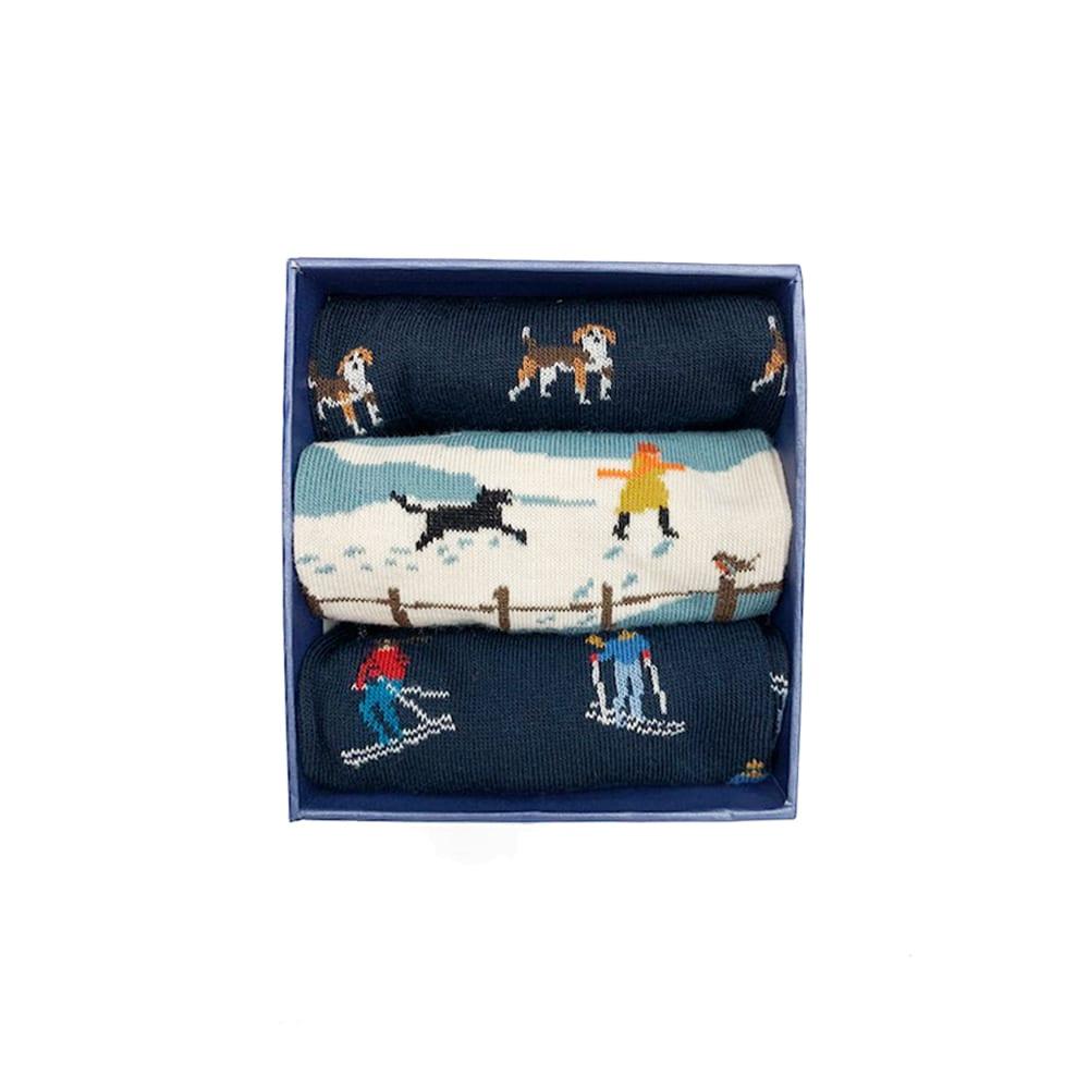 Corgi Socks Winter Holiday Gift Pack