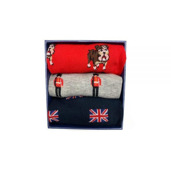 Corgi Socks British Holiday Gift Pack