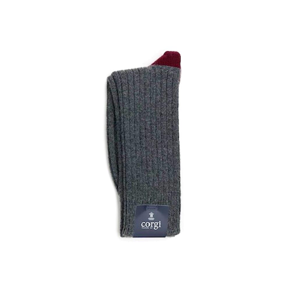 Corgi Socks Cashmere Contrast Port