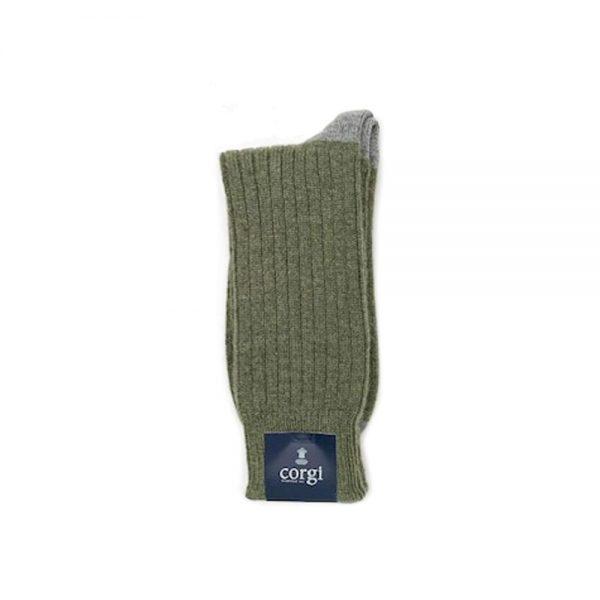 Corgi Socks Cashmere Contrast Grey