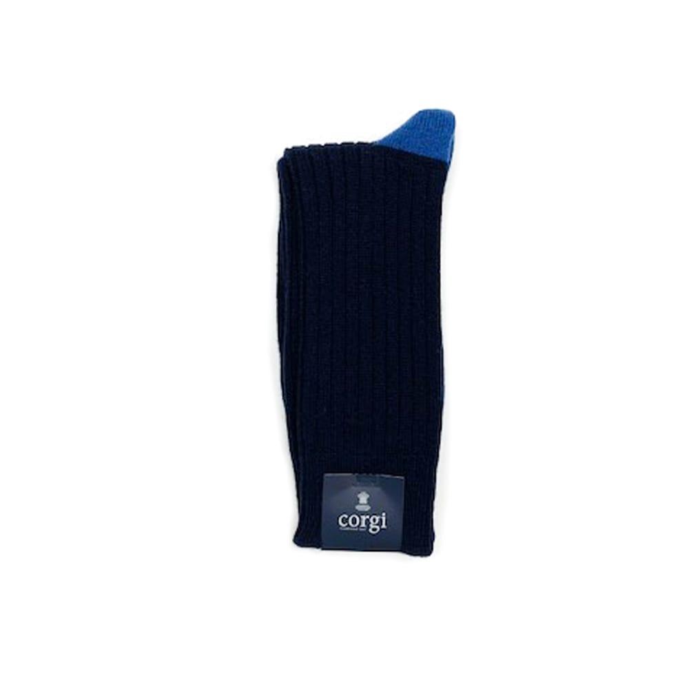 Corgi Socks Cashmere Contrast Blue