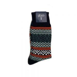 Corgi Socks Fairisle Moss