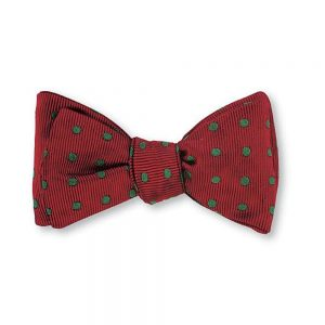 Bow Tie Red_ Green Vero Polka Dots