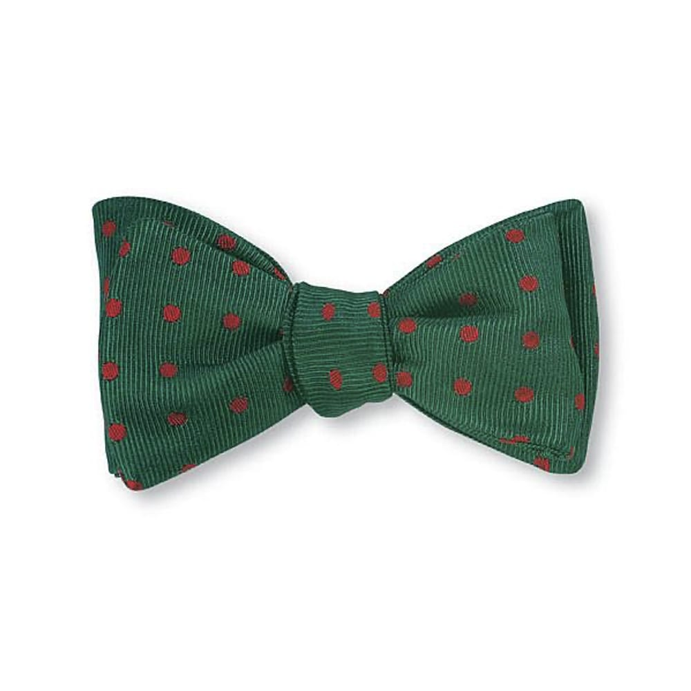 Bow Tie Green_Red Dots