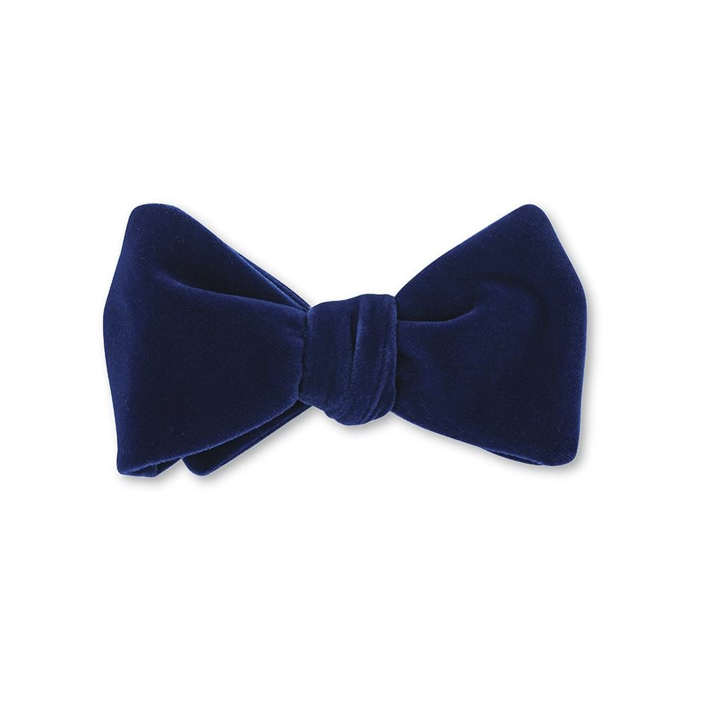 Bow Tie Navy Velvet