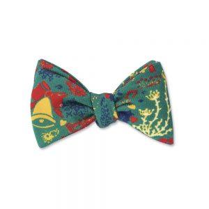 Bow Tie Green Fair Isle