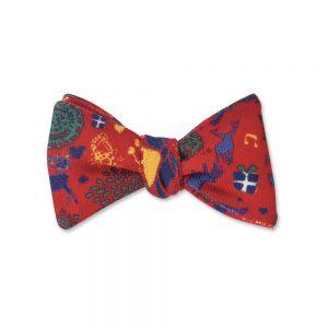 Bow Tie Red Fair Isle