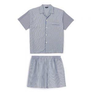 Sleepwear Bonsoir Pyjamas Shortie BlueWhite Stripe