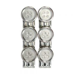 Trafalgar Braces Button Clip Set - Silver