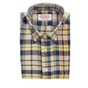Shirts Madras - Blue Yellow