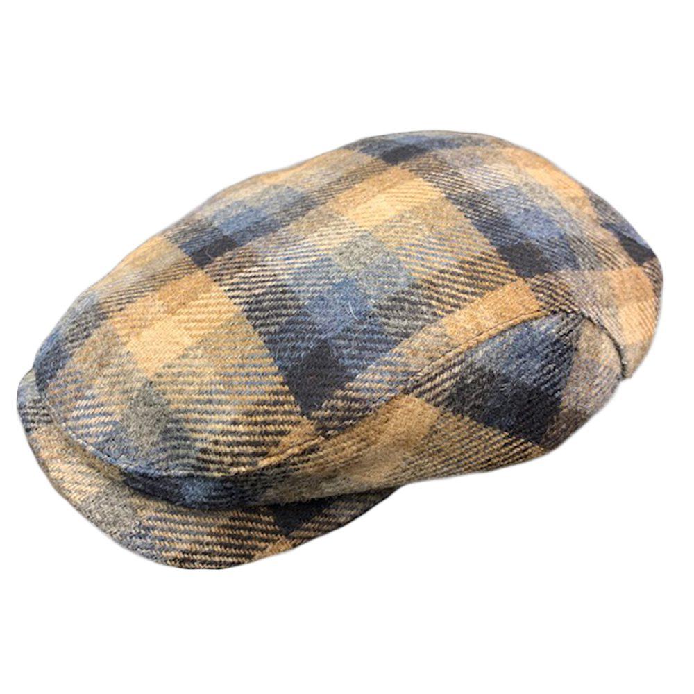 Wigens Ivy Navy Plaid Cap